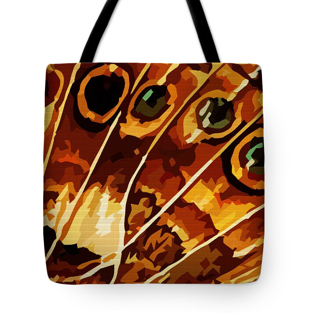 Butterfly Tote Bag featuring the digital art Five Eyes by Max Steinwald