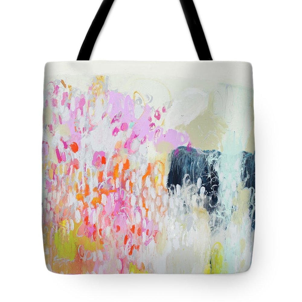 Abstract Tote Bag featuring the painting Fizz by Claire Desjardins