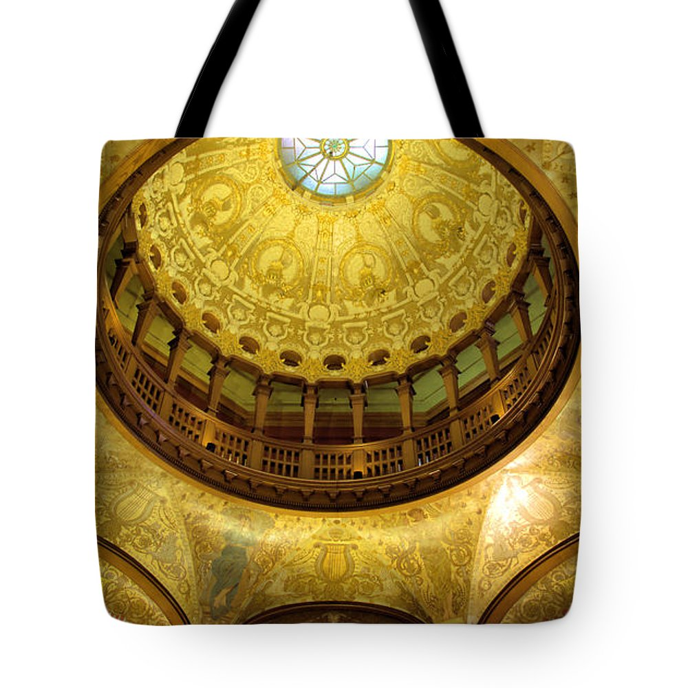 Colleges Tote Bag featuring the photograph Flagler College Rotunda II by Larry Jones