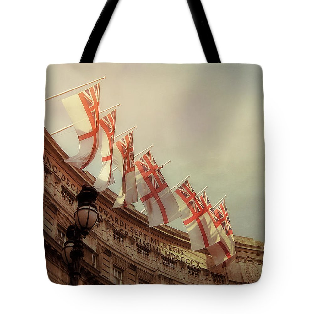 London Tote Bag featuring the photograph Flags Of London by JAMART Photography
