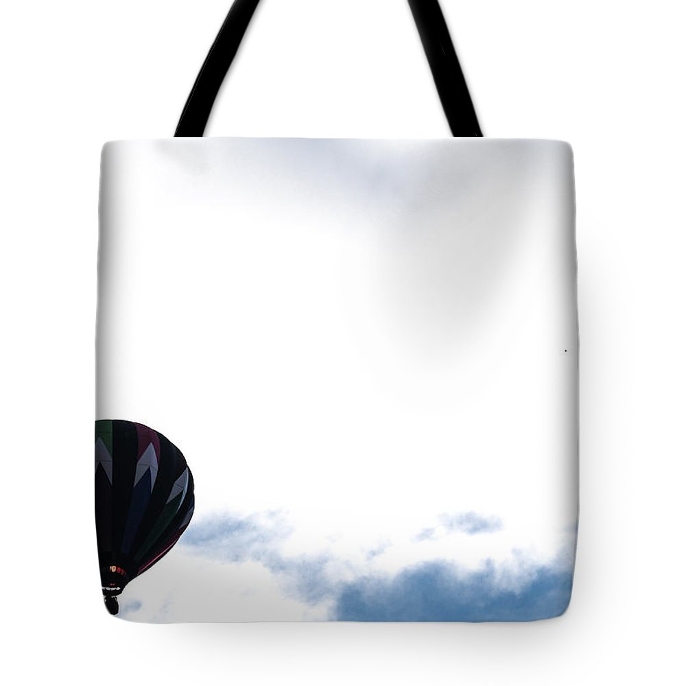 Balloon Tote Bag featuring the photograph Flame In The Air by Victory Designs