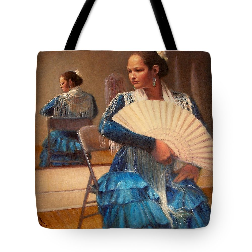 Realism Tote Bag featuring the painting Flamenco 1 by Donelli DiMaria