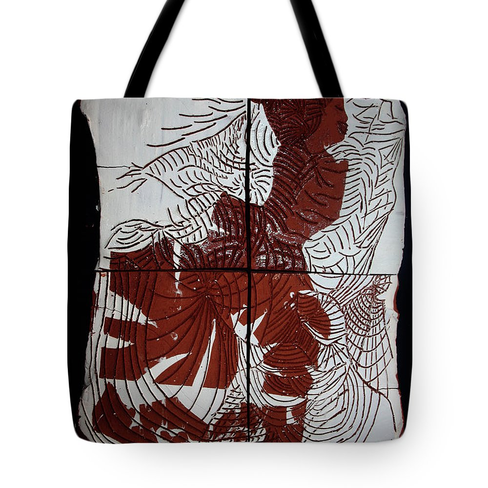 Mama Africa Twojesus Tote Bag featuring the ceramic art Flamenco Lady 4 by Gloria Ssali