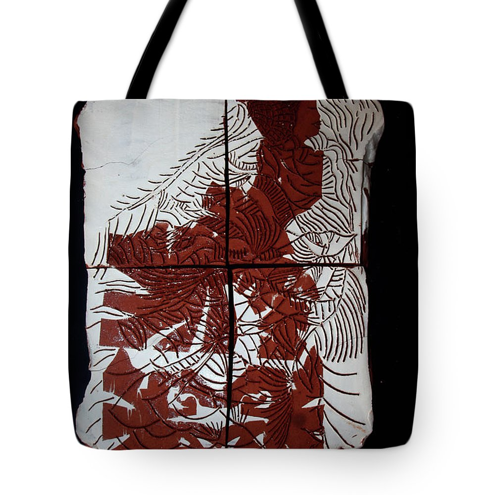 Mama Africa Twojesus Tote Bag featuring the ceramic art Flamenco Lady One by Gloria Ssali