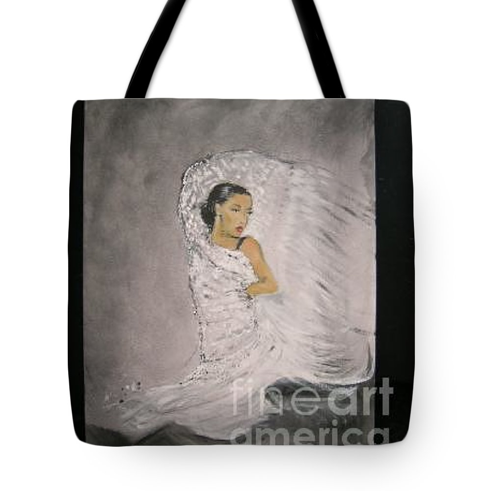 Spain Tote Bag featuring the painting Flamenco by Lizzy Forrester