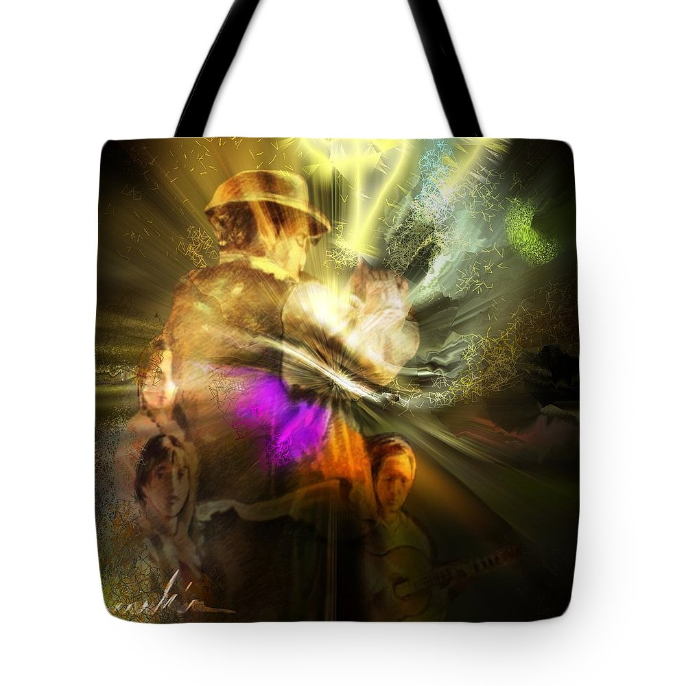 Spain Tote Bag featuring the painting Flamenco by Miki De Goodaboom