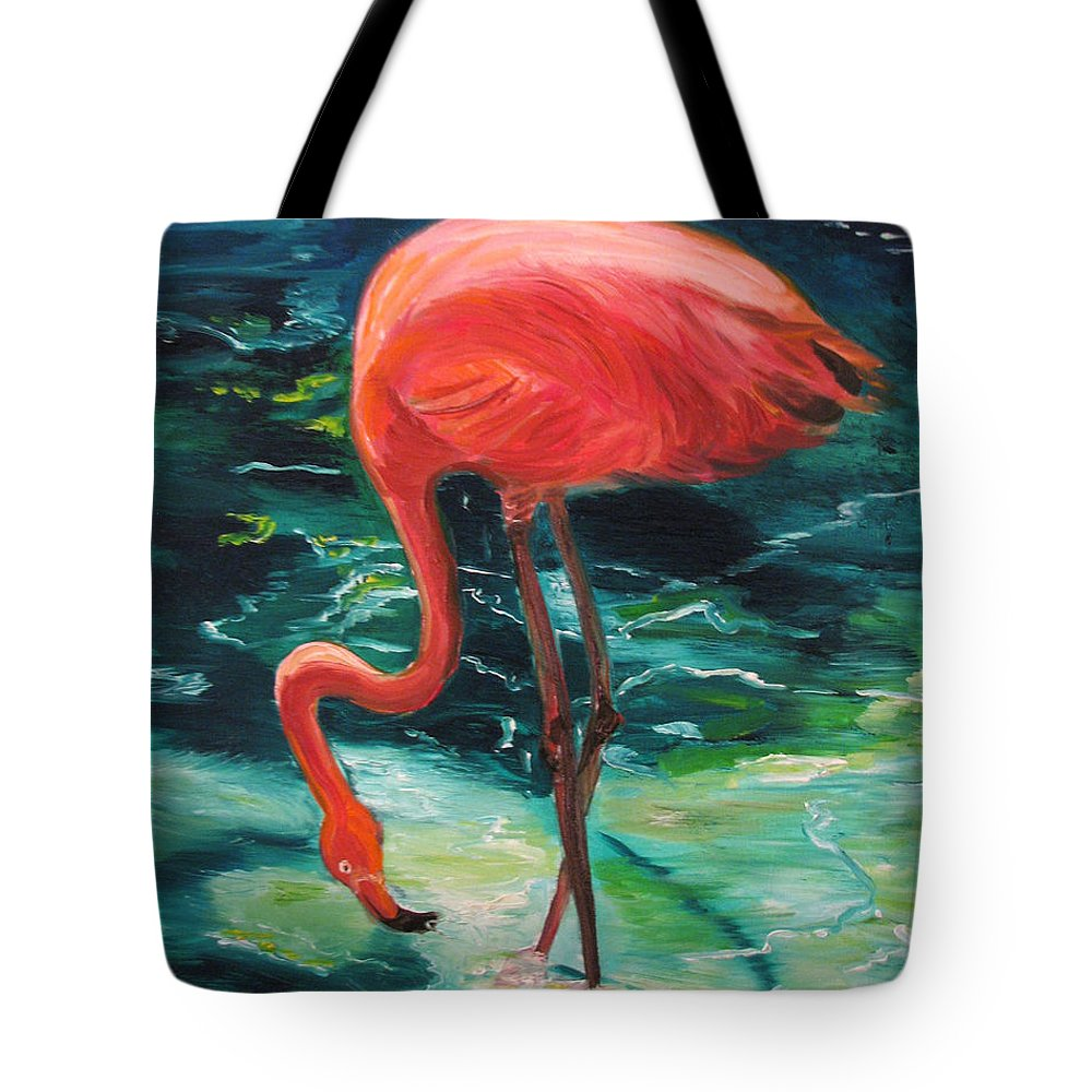 Flamingo Tote Bag featuring the painting Flamingo Of Homasassa by Patricia Arroyo