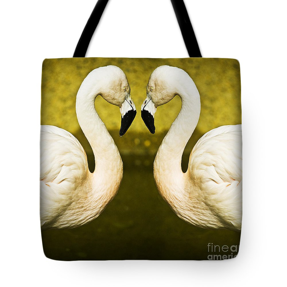 Flamingo Tote Bag featuring the photograph Flamingo Reflection by Sheila Smart Fine Art Photography
