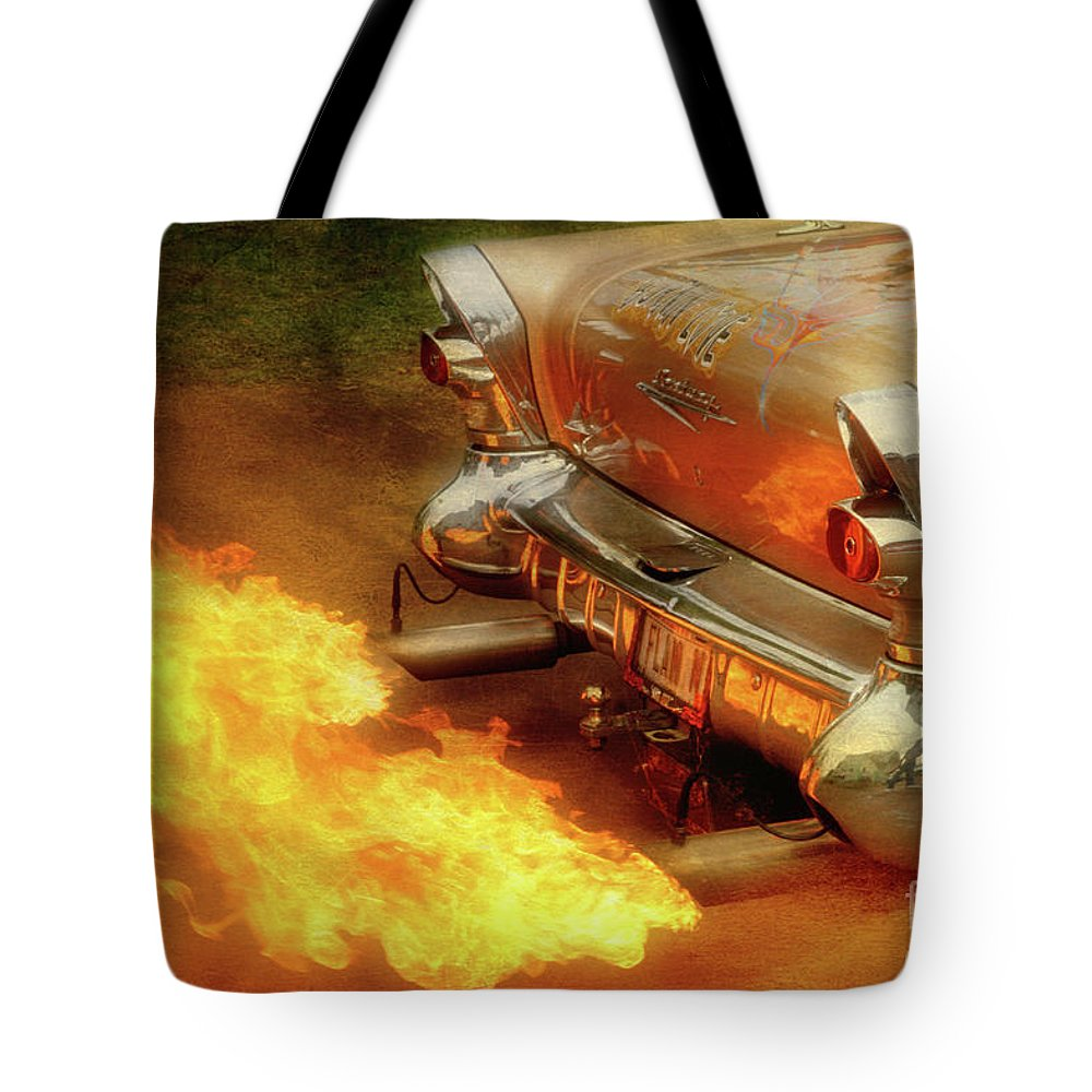 Flames Tote Bag featuring the photograph Flam'n by Joel Witmeyer