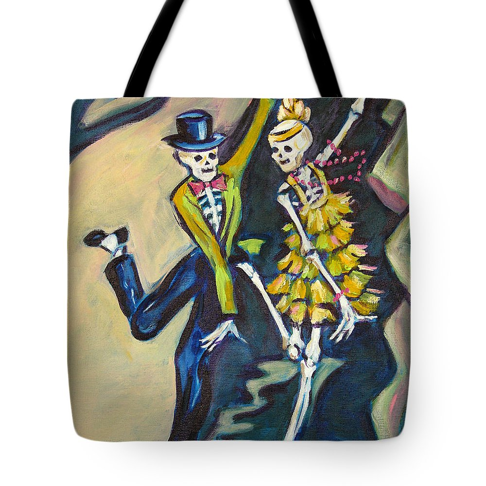 Dance Tote Bag featuring the painting Flappers by Sharon Sieben