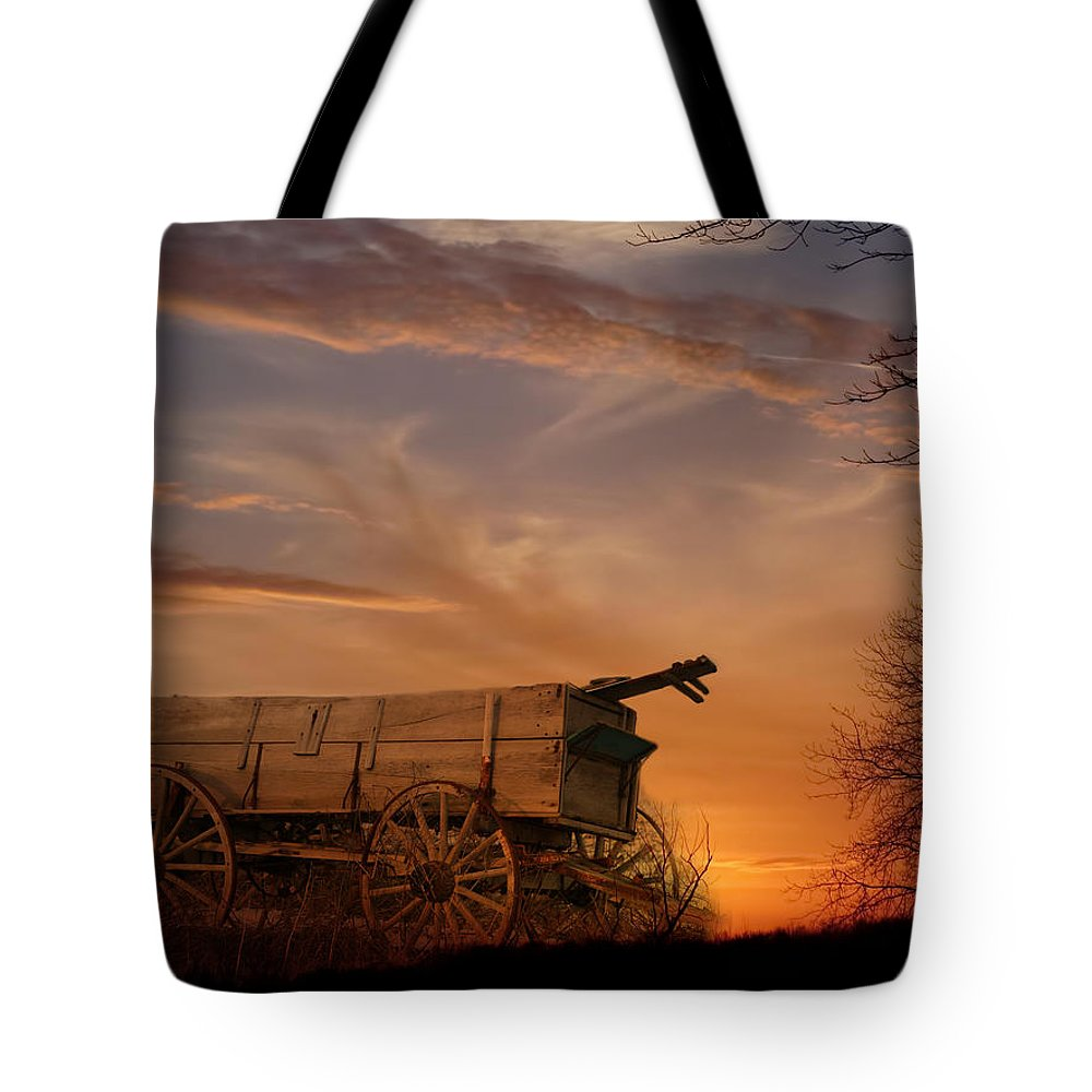 Wagon Tote Bag featuring the photograph Flashback by Theresa Campbell