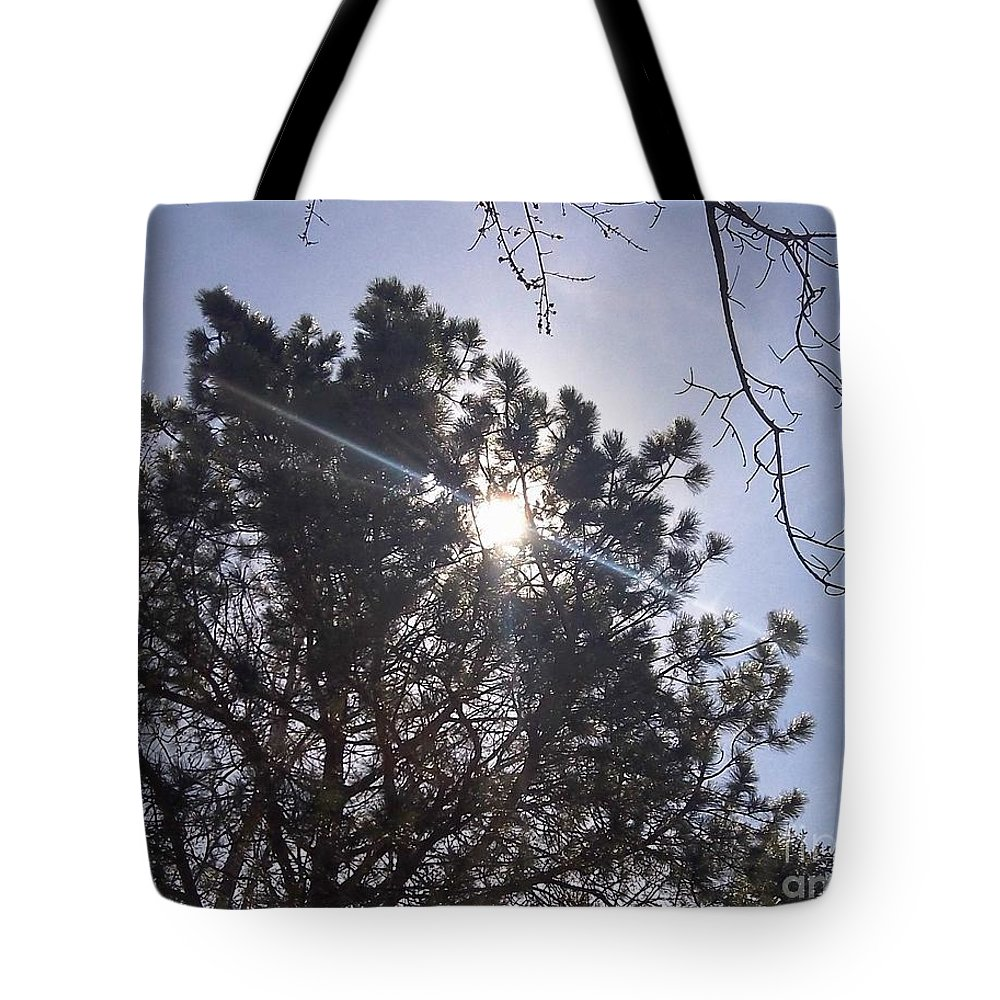 Photography Tote Bag featuring the photograph Flashlight Canope by Percival Vince