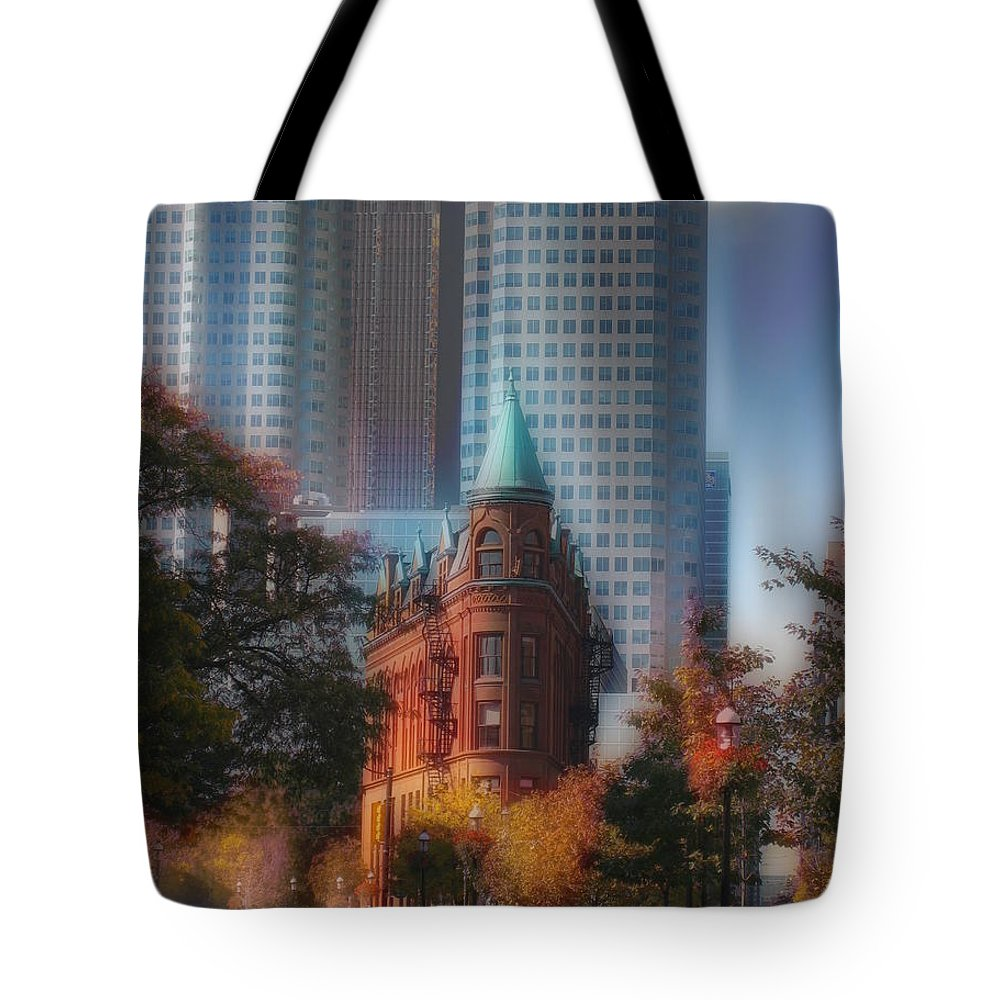 #flatironbuiding Tote Bag featuring the photograph Flatiron Building Toronto Ca by David Tokio