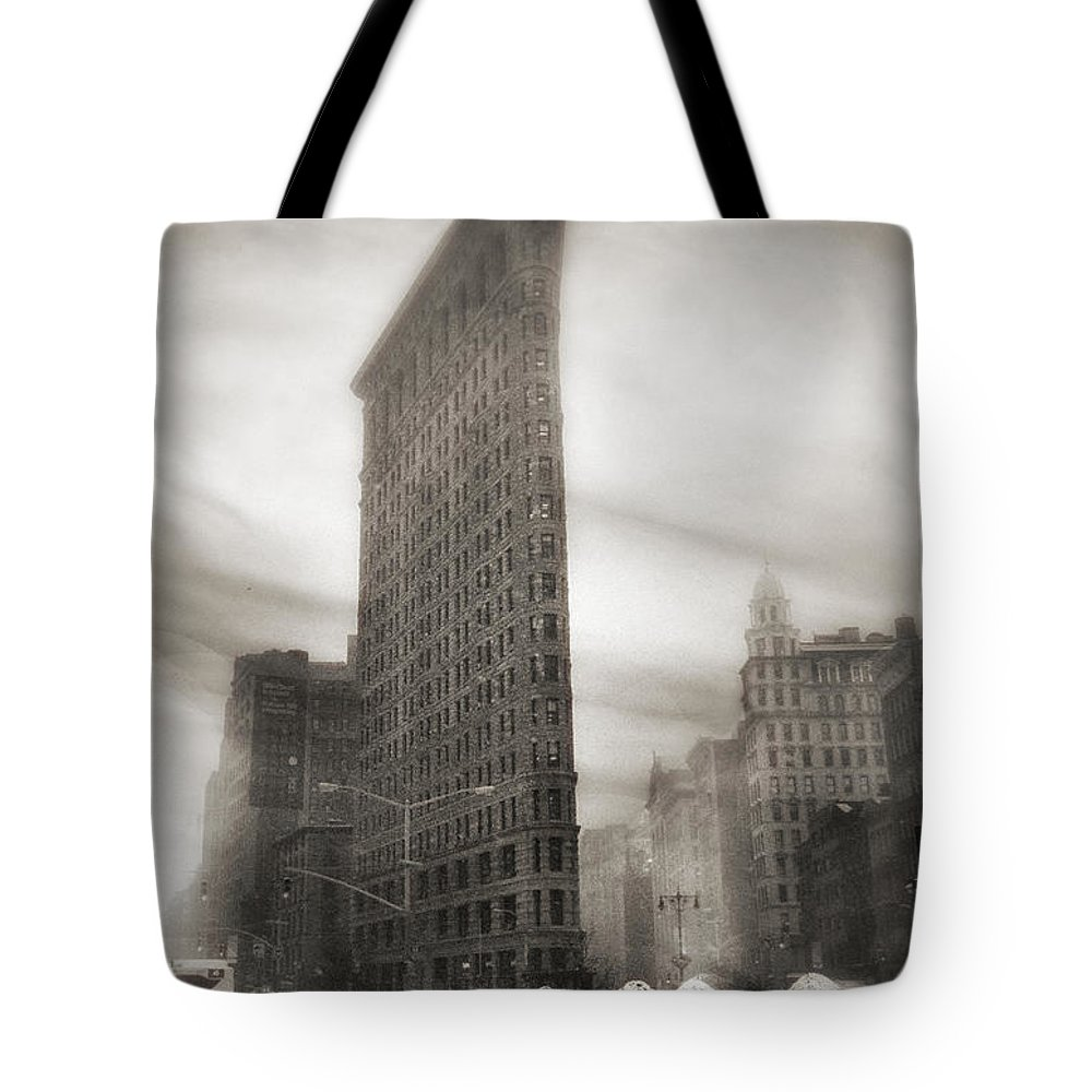Flatiron Tote Bag featuring the photograph Flatiron Winter's Day  by Jessica Jenney