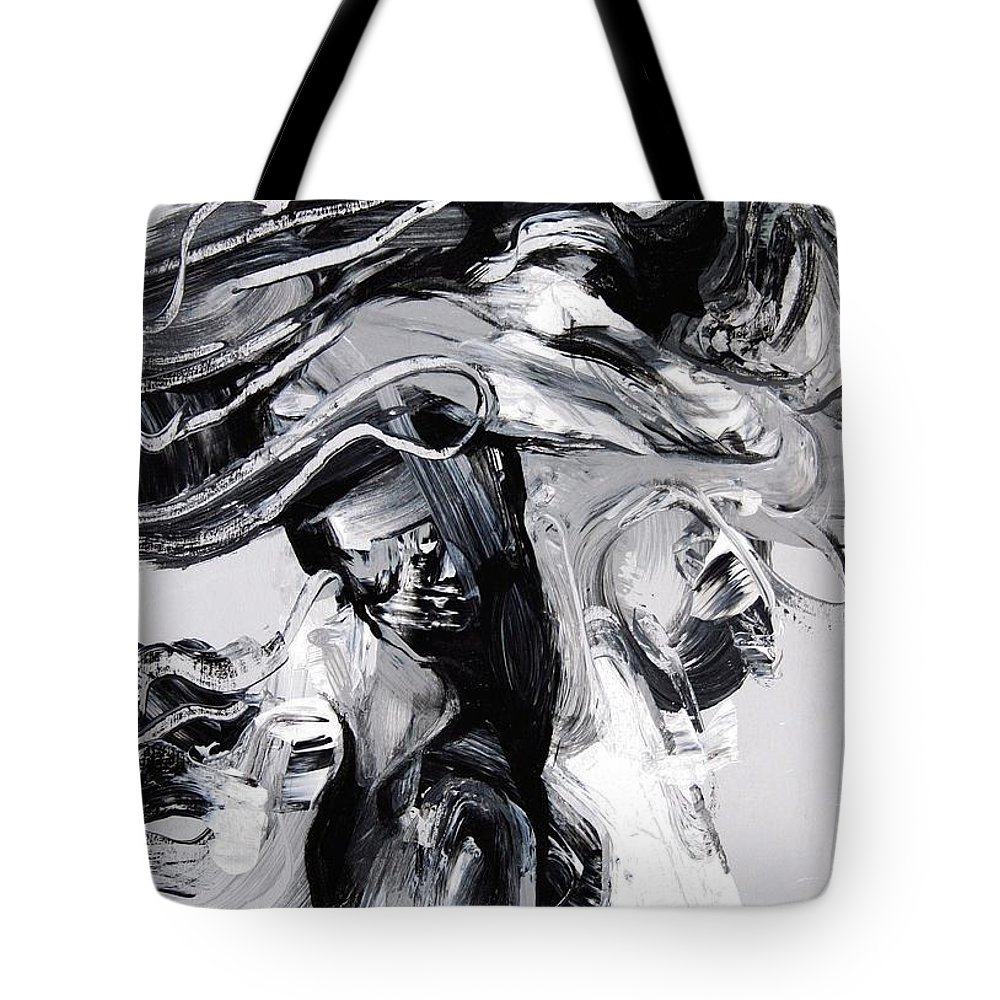 Fleeting Tote Bag featuring the painting Fleeting Glimpse by Jeff Klena