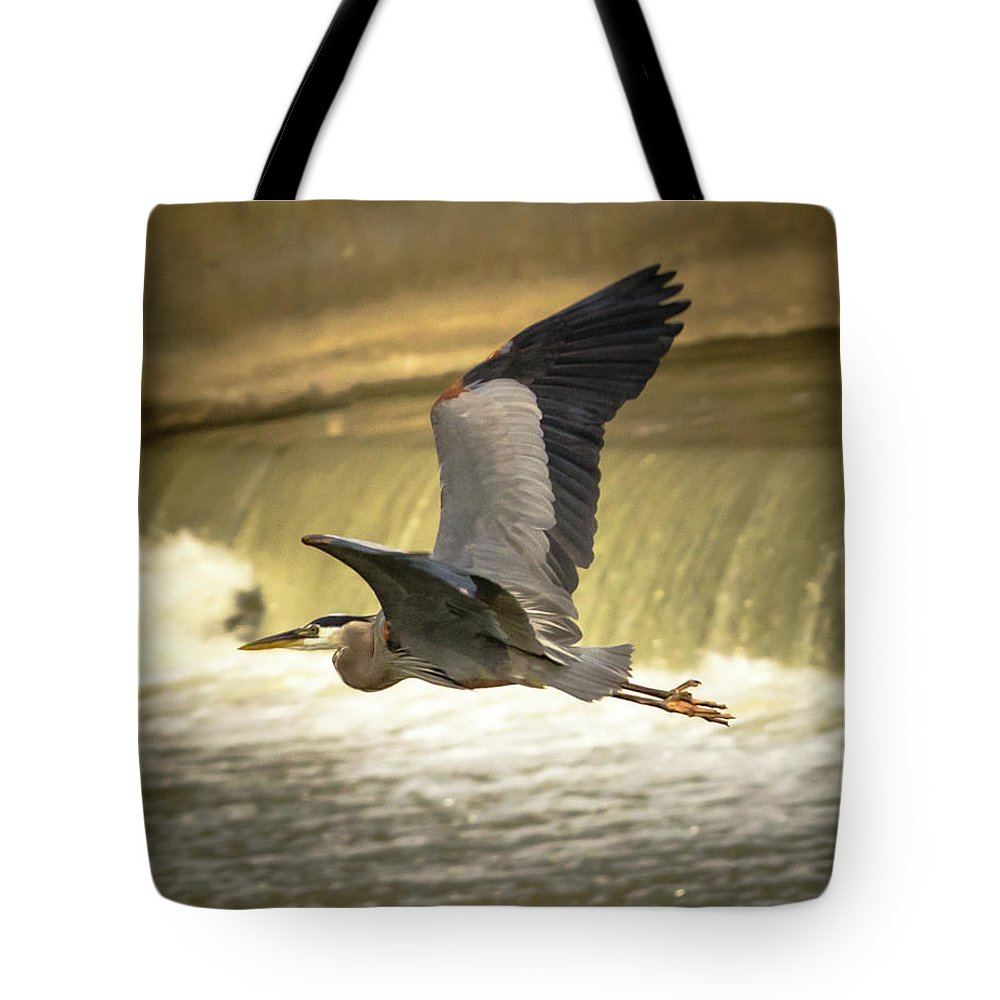 Nature Tote Bag featuring the photograph Flight Below The Falls by Steve Marler