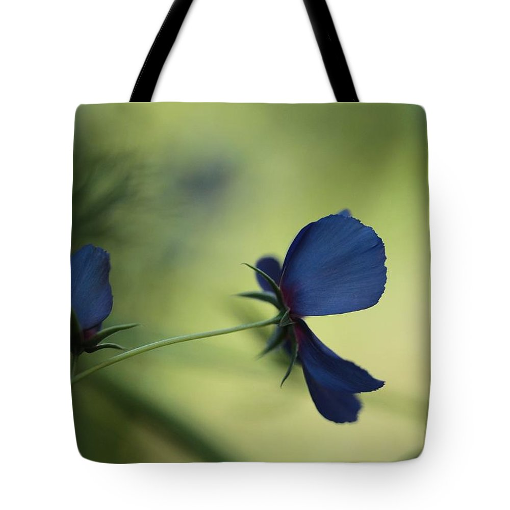 Lobelia Tote Bag featuring the photograph Flight Of The Lobelia by Connie Handscomb