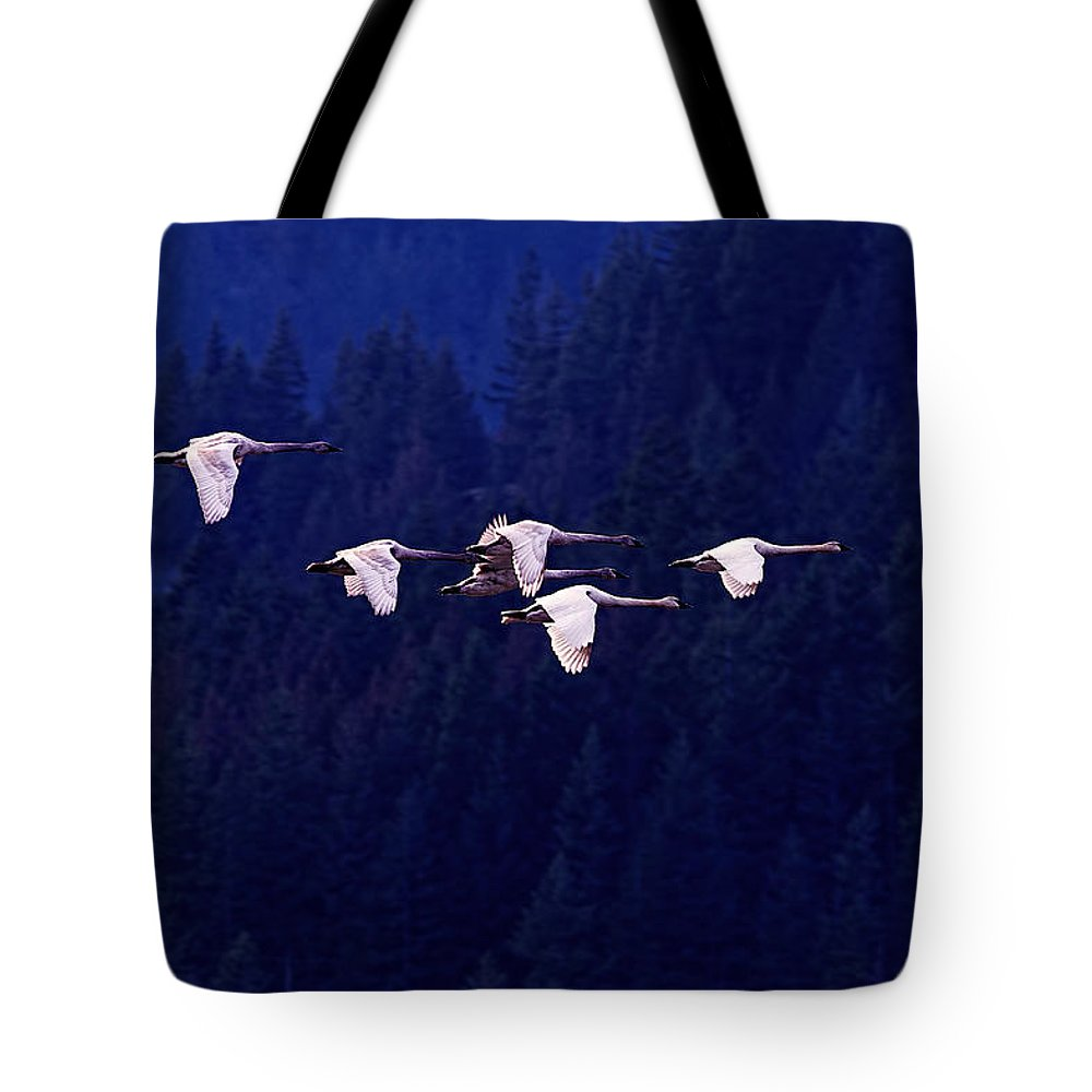 White Swan Photographs Tote Bags