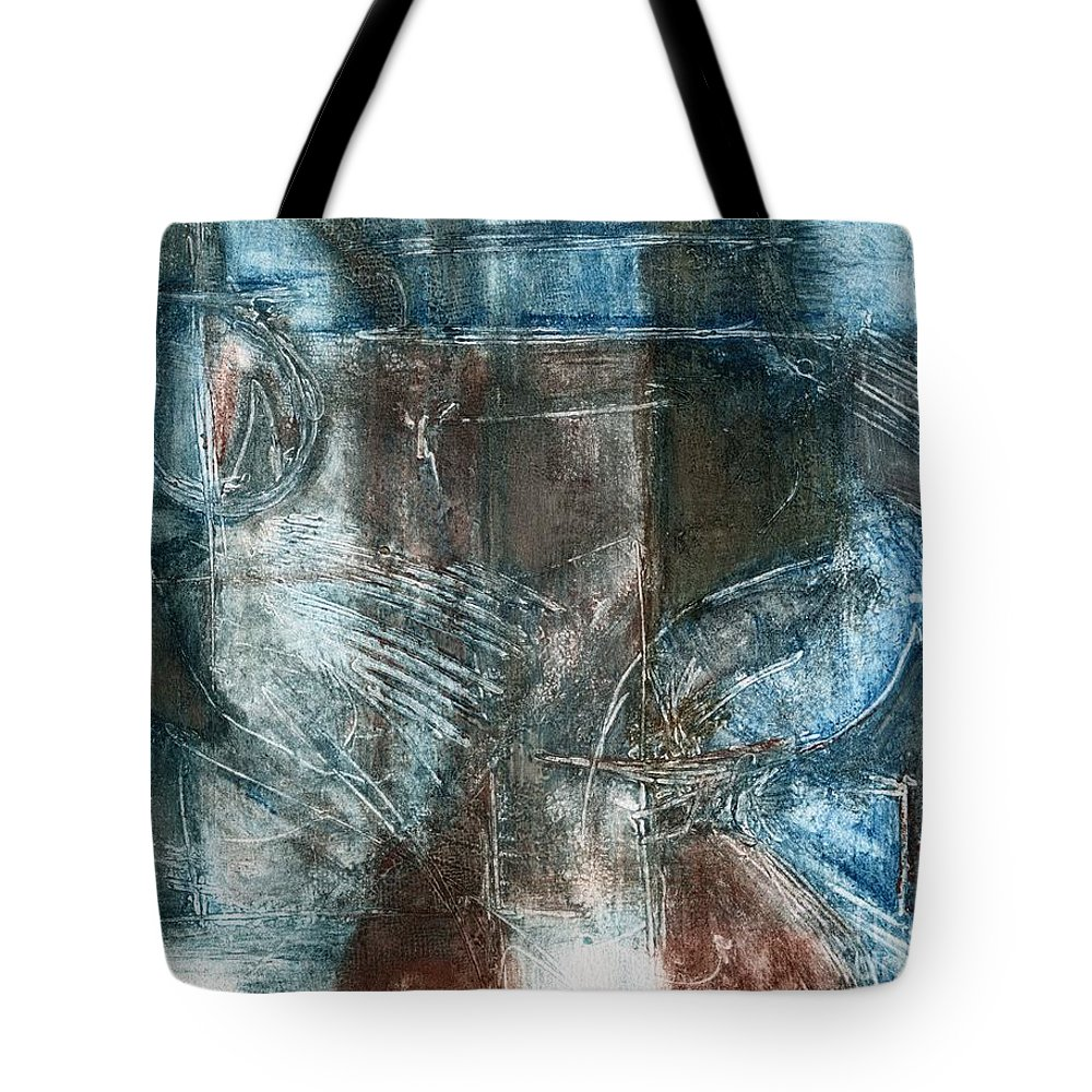 Flight Tote Bag featuring the drawing Flight Passage by Kerryn Madsen- Pietsch