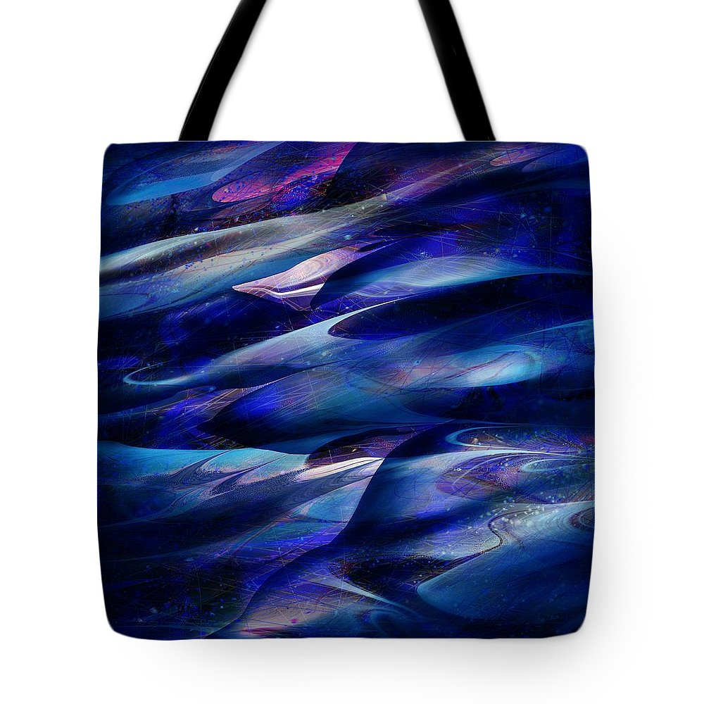 Abstract Tote Bag featuring the digital art Flight by William Russell Nowicki