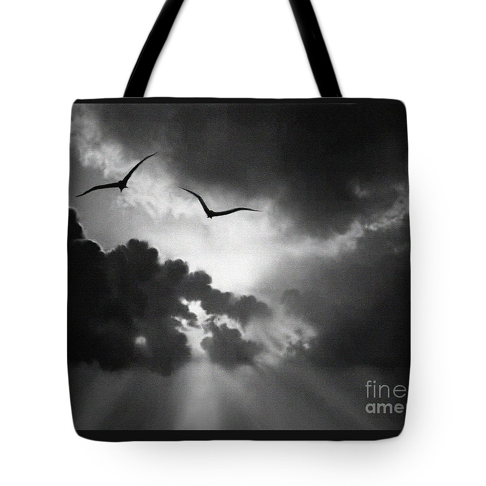 Landscape Tote Bag featuring the painting Flight To Glory by Robert Foster