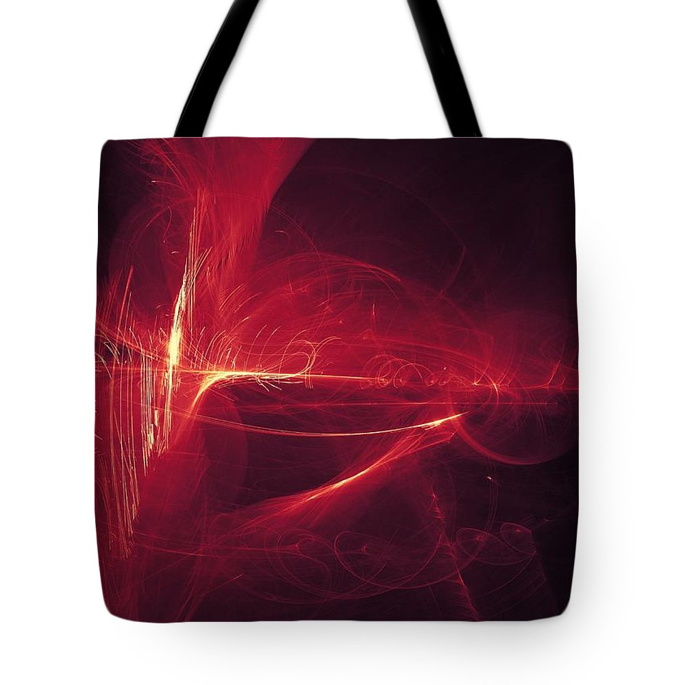 Fire Tote Bag featuring the digital art Flip by Jay Salton