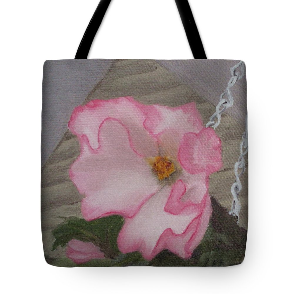 Flower Tote Bag featuring the painting Flirty Begonia by Lea Novak