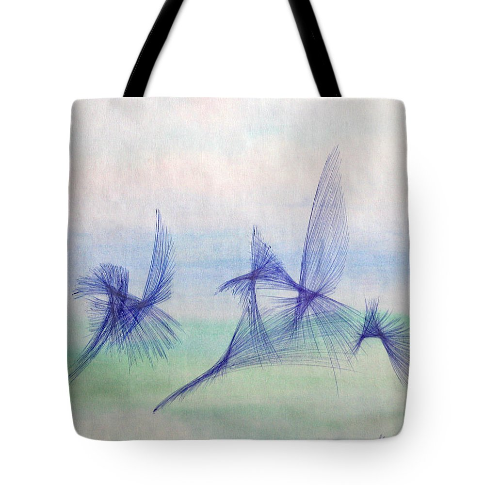Abstract Tote Bag featuring the mixed media Float by Steve Karol