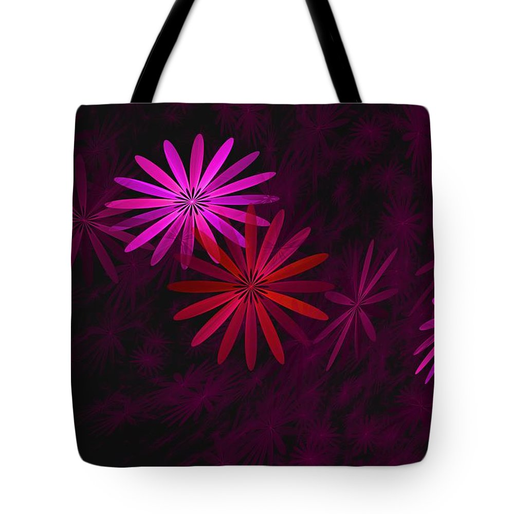 Fantasy Tote Bag featuring the digital art Floating Floral - 006 by David Lane