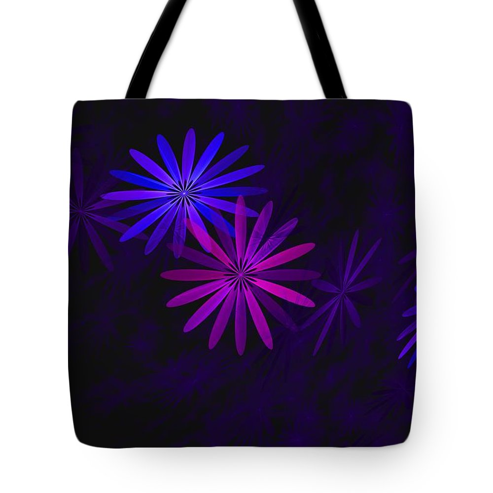 Fantasy Tote Bag featuring the digital art Floating Floral - 009 by David Lane