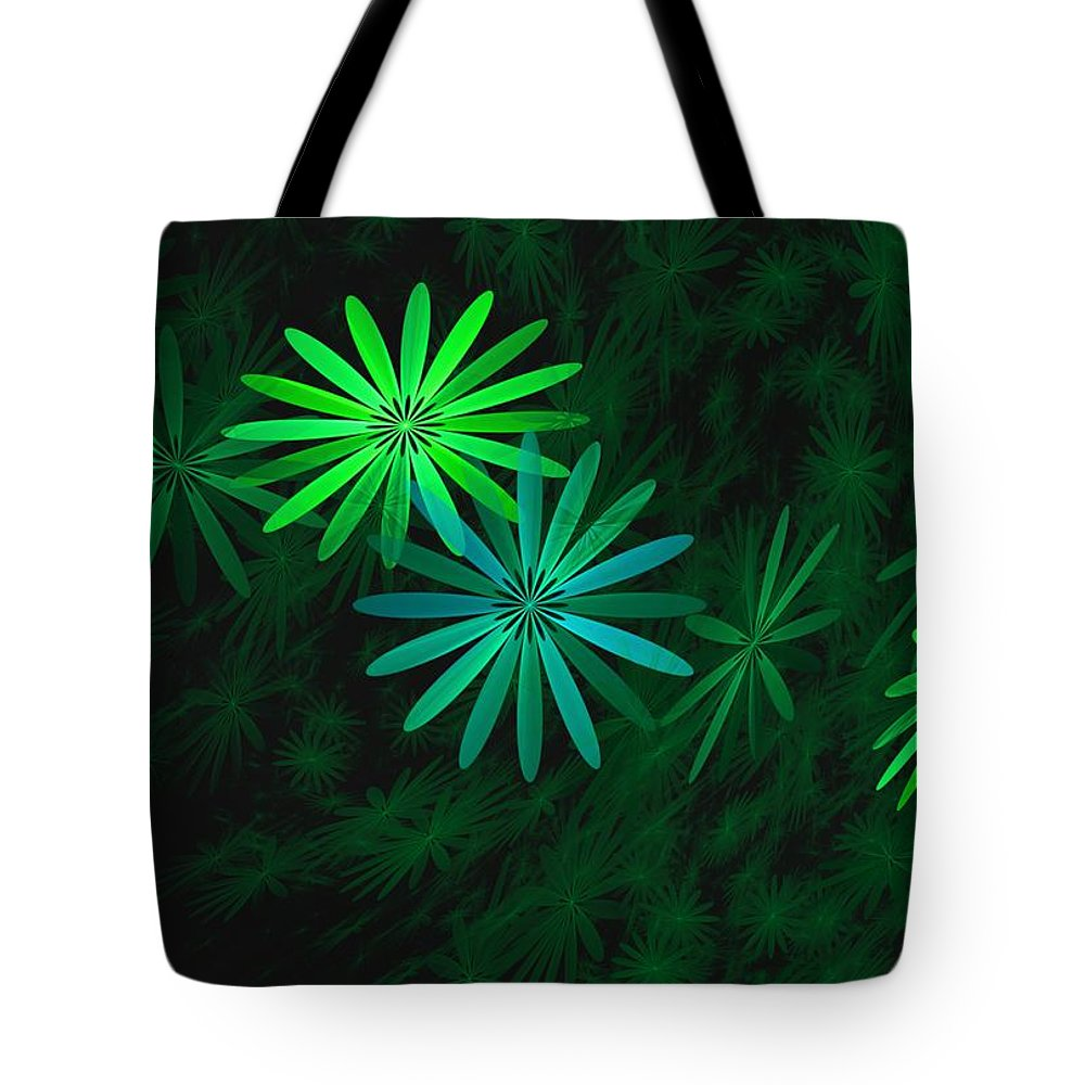 Digital Photography Tote Bag featuring the digital art Floating Floral-007 by David Lane