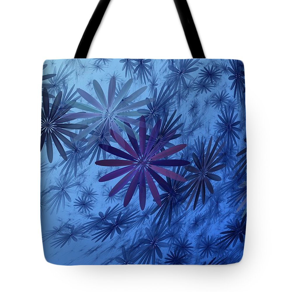 Digital Photography Tote Bag featuring the digital art Floating Floral-010 by David Lane