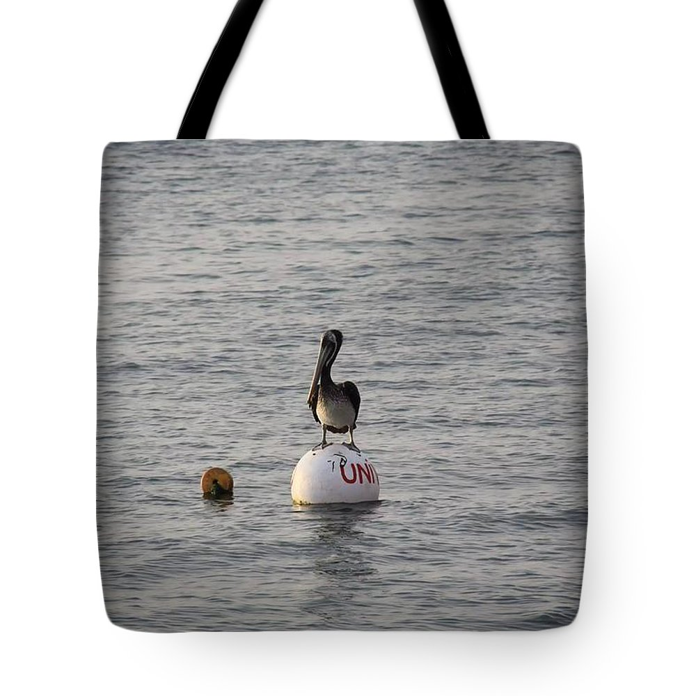 Pelican Tote Bag featuring the photograph Floating by Nicole Dunkelberger