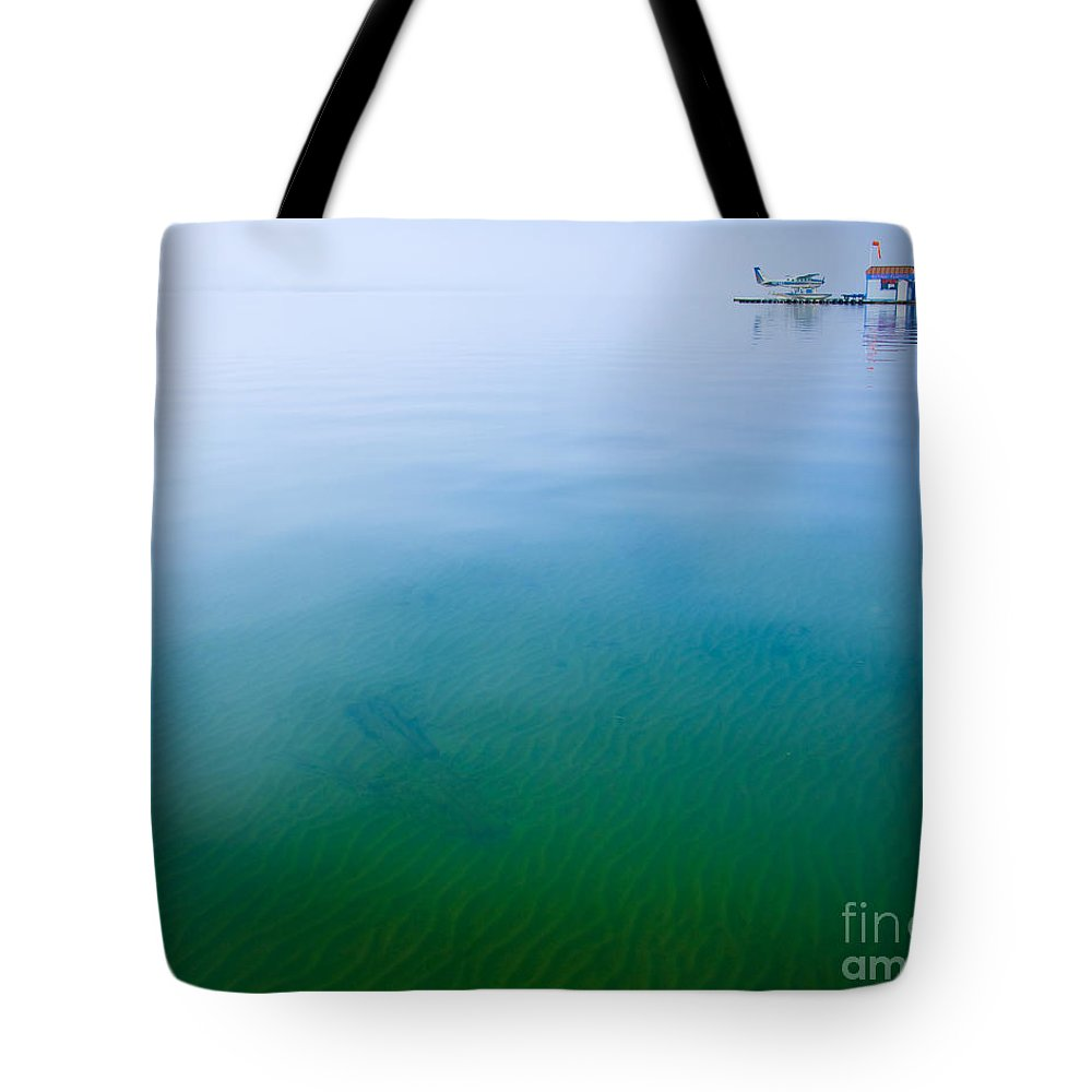 Lake Tote Bag featuring the photograph Floating On Dreams by Idaho Scenic Images Linda Lantzy
