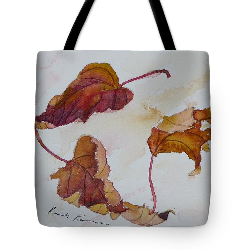 Fall Tote Bag featuring the painting Floating by Ruth Kamenev