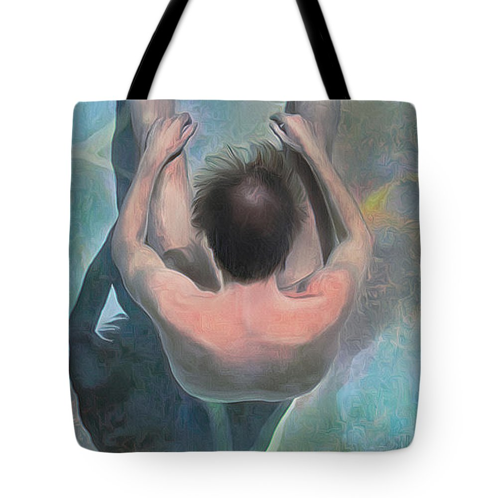 Surreal Tote Bag featuring the digital art Floating Still by Scott Smith