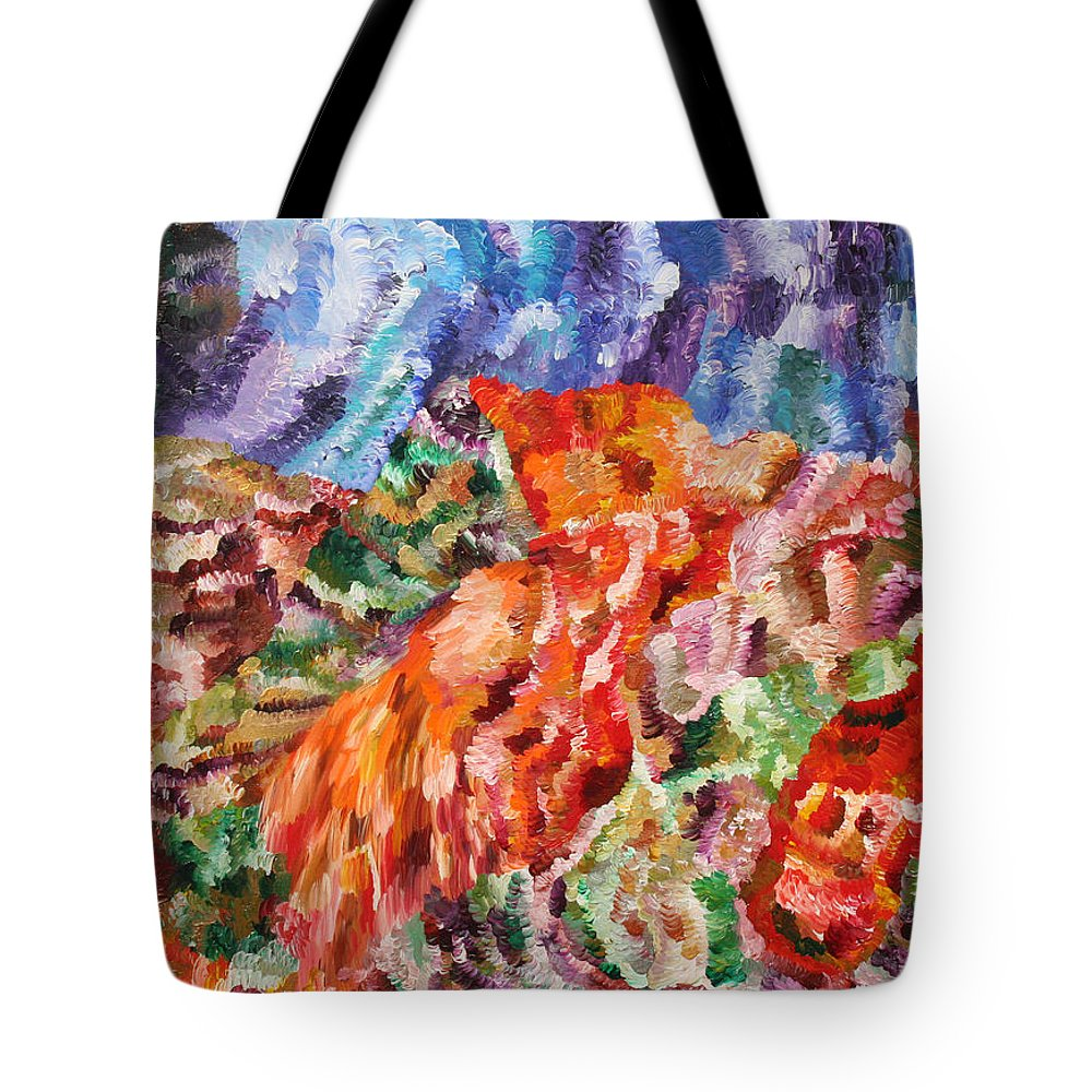 Fusionart Tote Bag featuring the painting Flock by Ralph White