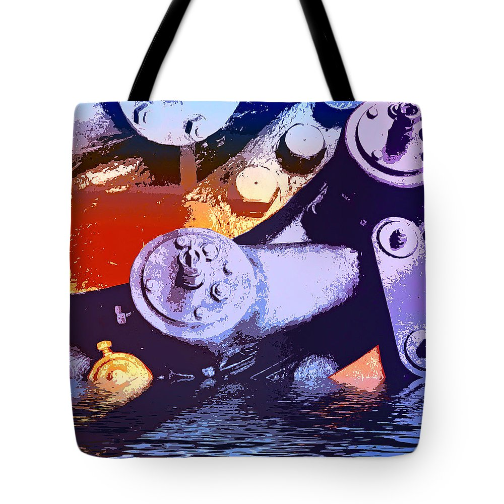 Flood Control Tote Bag featuring the mixed media Flood Control by Dominic Piperata