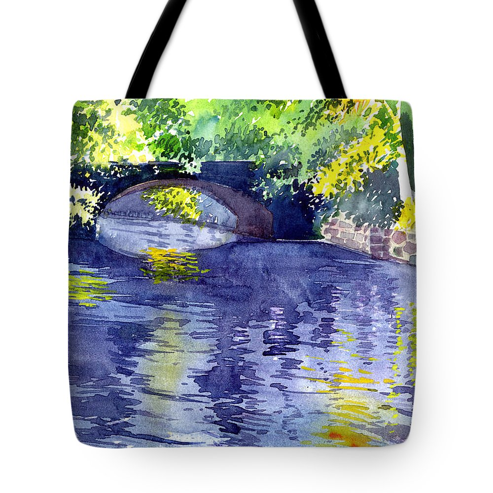 Nature Tote Bag featuring the painting Floods by Anil Nene