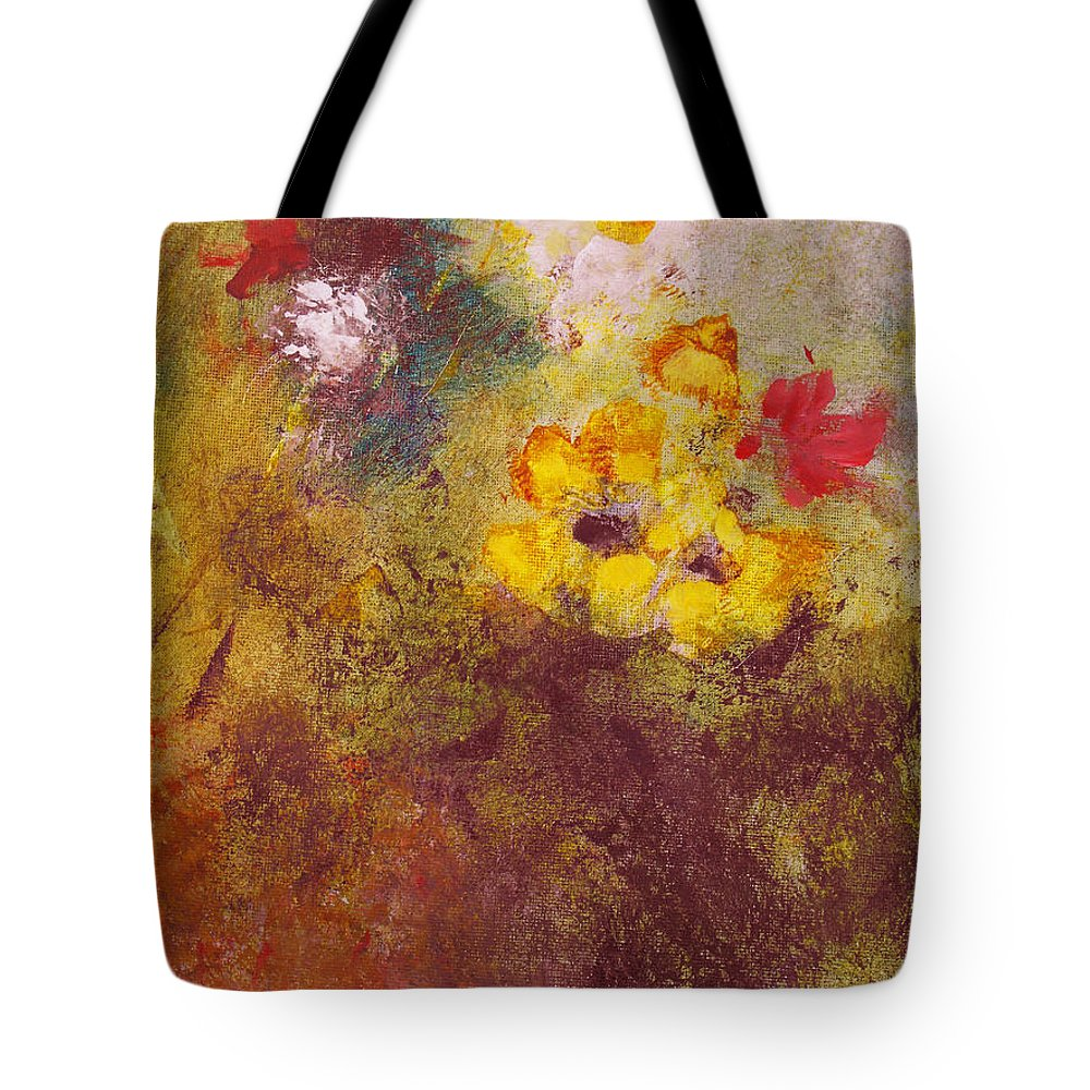 Botanical Tote Bag featuring the painting Flora II by Ruth Palmer