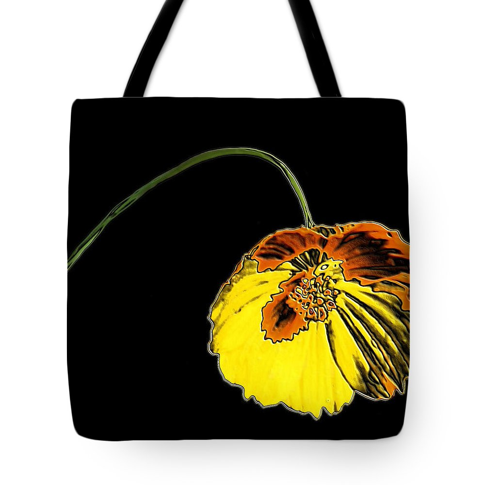 Flower Tote Bag featuring the digital art Flora by Kristin Elmquist