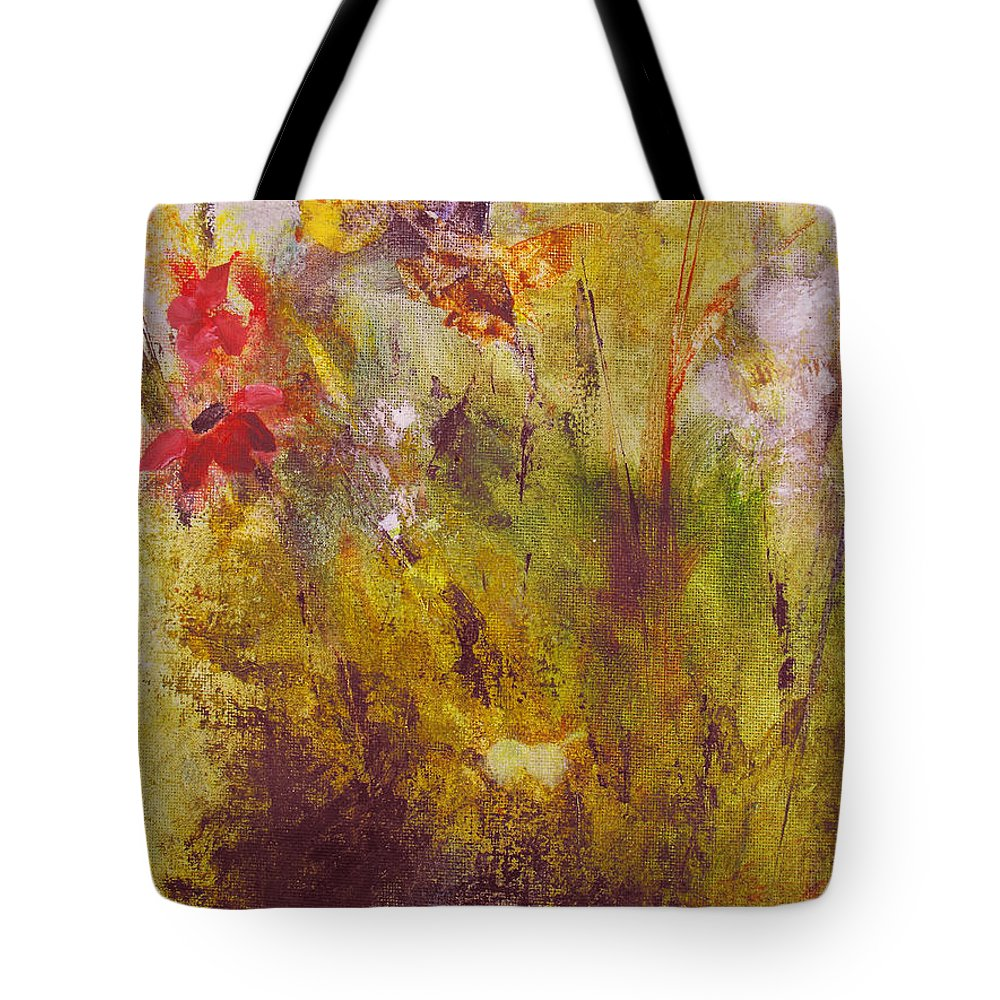 Botanical Tote Bag featuring the painting Flora by Ruth Palmer