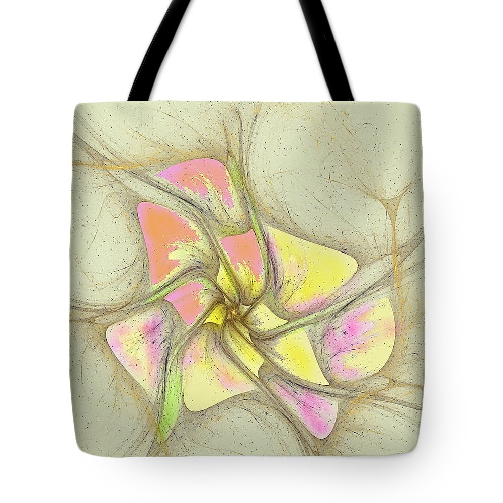 Tote Bag featuring the digital art Floral 2-19-10-a by David Lane