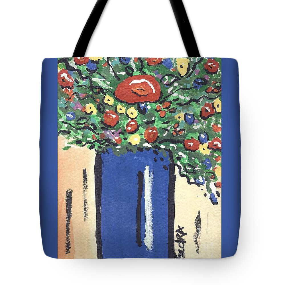 Floral Tote Bag featuring the painting Floral 280 by Sidra Myers