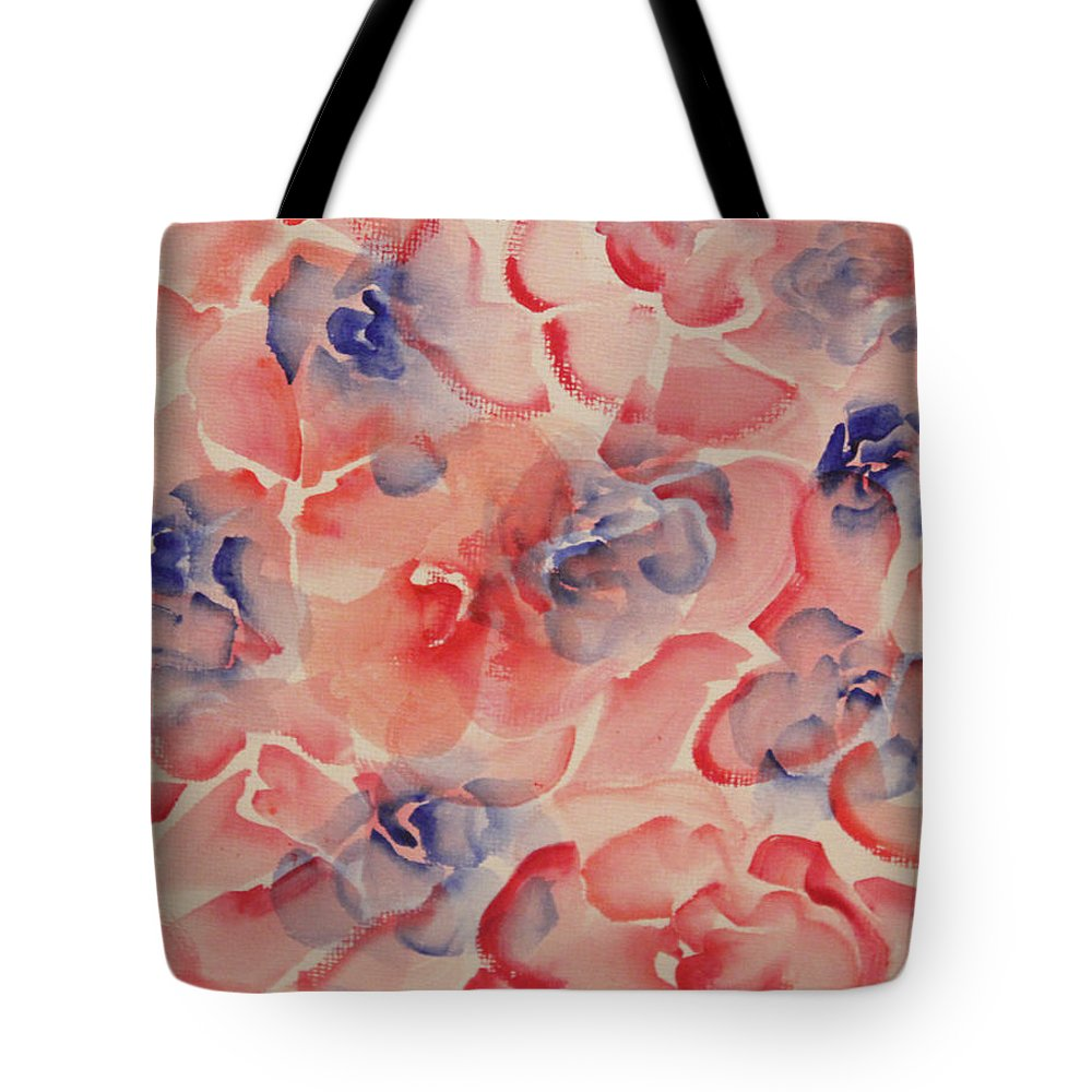 Rose Tote Bag featuring the painting Floral Abstract by Catherine Sprague