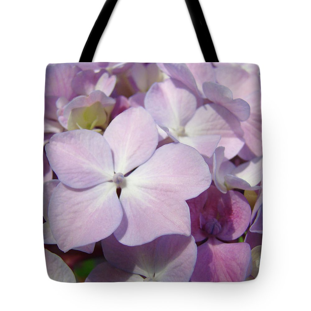 Nature Tote Bag featuring the photograph Floral Art Hydrangea Flowers Purple Lavender Baslee Troutman by Baslee Troutman