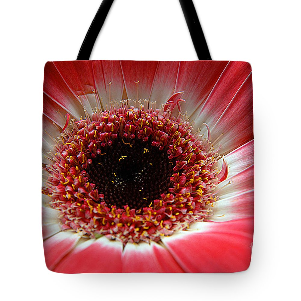 Clay Tote Bag featuring the photograph Floral Eye by Clayton Bruster