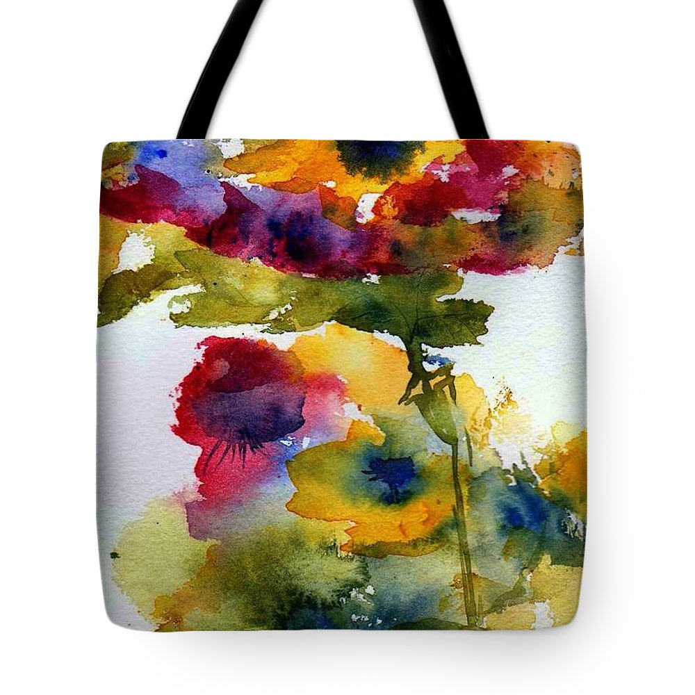 Flpwers Tote Bag featuring the painting Floral Fancy by Anne Duke