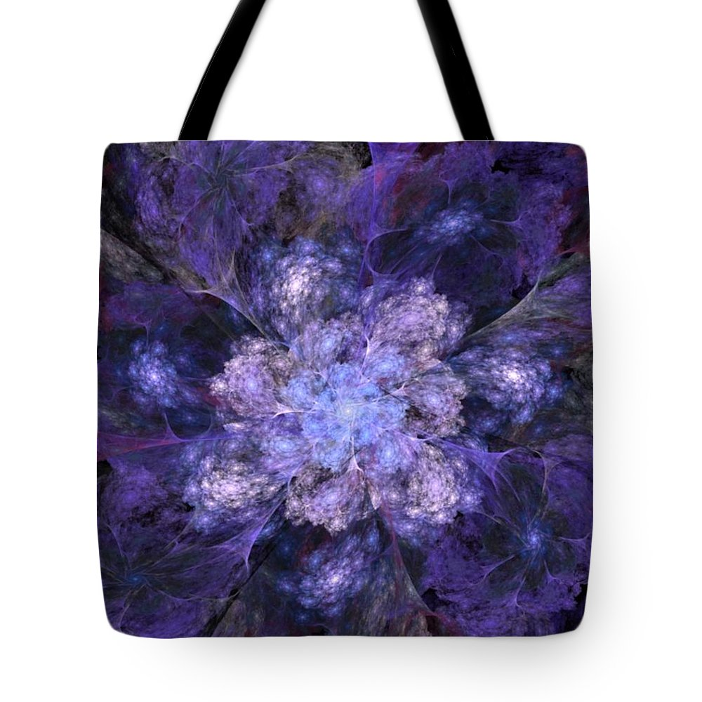 Digital Painting Tote Bag featuring the digital art Floral Fantasy 1 by David Lane