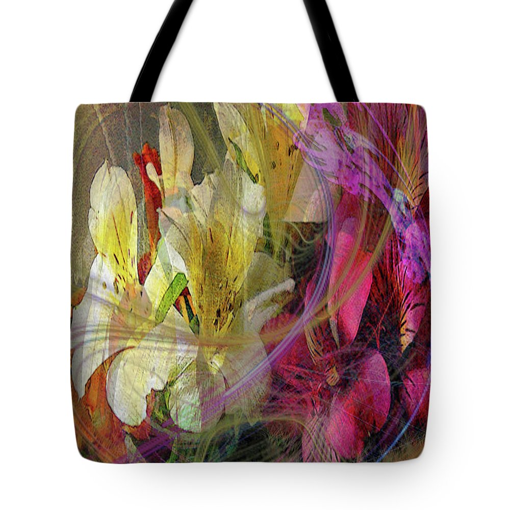 Floral Inspiration Tote Bag featuring the digital art Floral Inspiration by John Beck